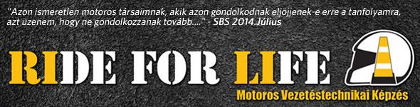 Ride for Life motoros vezetéstechnikai képzés